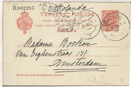 SAN SEBASTIAN A AMSTERDAM 1909  ENTERO POSTAL SPAIN STATIONERY CARD - 1850-1931