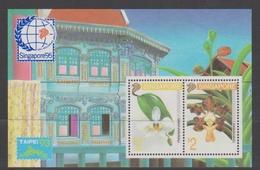 Singapore S93-5M 1993 Singapore'95 Orchids Taipei'93, Miniature Sheet Mint Never Hinged - Singapore (1959-...)