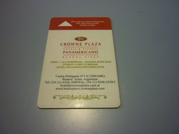 Argentina Buenos Aires Crowne Plaza Hotel Room Key Card - Cartes D'hotel