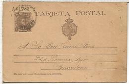 SANTANDER A BARCELONA  ENTERO POSTAL SPAIN STATIONERY CARD SERIE A - 1850-1931