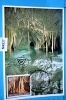 M4537 FDC Obir Tropfsteinhöhlen, Wartburg-Höhle, Lange Grotte, Cave, Grotte, Grotta, Cueva, 9135 Eisenkappel AT 1991 - Cartes-Maximum (CM)