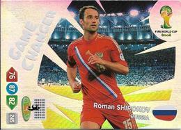 CARTE PANINI ADRENALYN COUPE DU MONDE FIFA BRESIL 2014 RUSSIE ROMAN SHIROKOV GAME CHANGER - Trading Cards