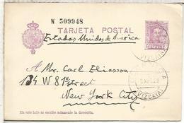 GUERNICA VIZCYA A USA  ENTERO POSTAL SPAIN STATIONERY CARD SERIE W - 1850-1931