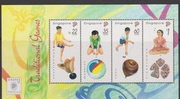 Singapore S97-2M 1997 Traditional Games Singpex'97, Miniature Sheet Mint Never Hinged - Singapore (1959-...)