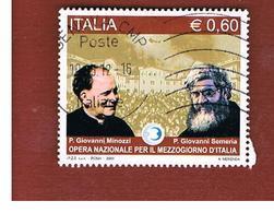 ITALIA REPUBBLICA  -   2009 OPERA NAZIONALE PER IL MEZZOGIORNO -   USATO  ° - 6. 1946-.. Repubblica