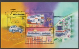 Singapore S97-4M 1997 Transport, Miniature Sheet Mint Never Hinged - Singapore (1959-...)