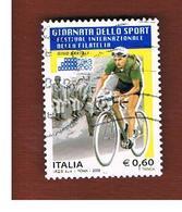 ITALIA REPUBBLICA  -   2009 CICLISMO: GINO BARTALI                        -   USATO  ° - 6. 1946-.. Repubblica