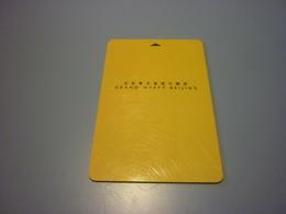 China Beijing Grand Hyatt Hotel Room Key Card - Cartes D'hotel