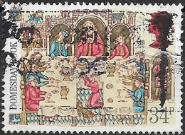 GREAT BRITAIN 1986 900th Anniv Of Domesday Book - 34p - Lord At Banquet AVU - Used Stamps