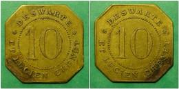 DESWARTE Et Lucien CHENET - Brasserie De L'Exposition De 1889 - 10 Centimes - Monetari / Di Necessità