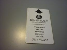 Renaissance International Hotel Room Key Card - Cartes D'hotel