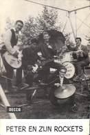 Carte Postale Photo Peter En Zijn Rockets (Decca, 1960) - Artistes