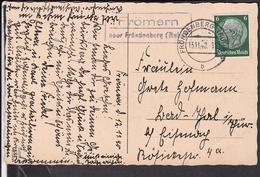 "Postkarte Landpoststempel "" Frömern über Fröndenberg "" 1940 - Briefe U. Dokumente"
