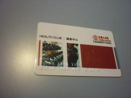 China Marriott Hotel Room Key Card (health Club Member Card) - Cartes D'hotel