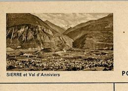Carte Illustré Neuve N° 182 - 0336 F - SIERRE Et Val D'Anniviers   (Zumstein 2009) - Ganzsachen