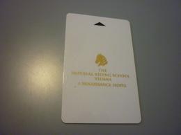 Austria Wien Vienna Renaissance Imperial Riding School Hotel Room Key Card - Cartes D'hotel
