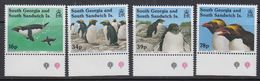 South Georgia 1993 Macaroni Penguins 4v (+margin) ** Mnh (41321) - South Georgia
