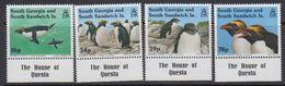 "South Georgia 1993 Macaroni Penguins 4v (margn ""House Of Questa"") ** Mnh (41321B) - Zuid-Georgia"