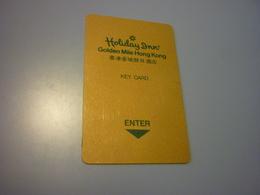 Hong Kong Golden Mile Holiday Inn Hotel Room Key Card - Cartes D'hotel