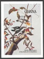 Ghana 1985 Audubon Downy Woodpecker Michel Block 119 Unperforated Mint - Climbing Birds