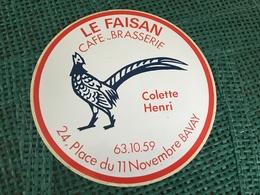 Autocollant Brasserie Le Faisan - Stickers