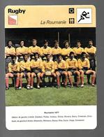 GF339 - FICHES EDITIONS RENCONTRE - RUGBY - ROUMANIE - Rugby