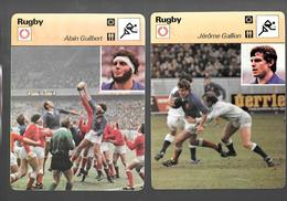 GF348 - FICHE EDITION RENCONTRE - RUGBY - JO MASO - ALAIN GUILBERT - JEROME GALLION - RC TOULON - Rugby