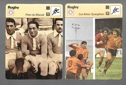 GF353 - FICHES EDITION RENCONTRE - RUGBY - YVES DU MANOIR - SPANGHERO - FRANCOIS SANGALLI - GERARD CHOLLEY - Rugby