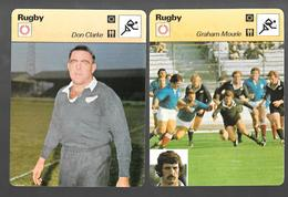 GF343 - FICHE EDITION RENCONTRE - RUGBY - DON CLARKE - GRAHAM MOURIE - Rugby