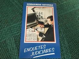 Autocollant Gendarmerie Nationale Enquêtes Judiciaires - Stickers