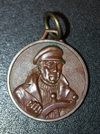 """Belle Médaille Pendentif Bronze De Marinier Batelier """"marin à La Barre"""" - Pendentifs"""