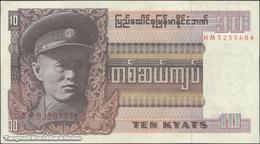 TWN - BURMA 58 - 10 Kyats 1973 Prefix HM AU/UNC - Myanmar