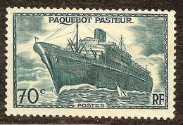 RARISSIME N°502b PAQUEBOT PASTEUR SANS SURCHARGE NEUF** & Signé BRUN Coté 55000€ (cf Description) - France