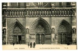 CPA  75 PARIS Cathédrale  Notre Dame - Le Portail - Eglises