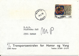 Norway Cover Hamar 5-4-1978 Single Franked - Norway