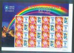 China 2003 The 10th Year Anniversary Of BOE Special Sheet - Unused Stamps