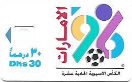 @+ EAU - 11th Asian Cup 1996 - 30Dhs - Sans Puce Ni Numero De Serie - Emirats Arabes Unis