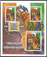 Côte D'Ivoire 2001 UPU Congress Michel Block 35 Mint MNH - UPU (Wereldpostunie)