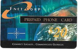 @+ Carte Militaire ONU En Yougoslavie - FNET Corp $20 - Verso En Francais (serie 387xxxxx) - Yougoslavie