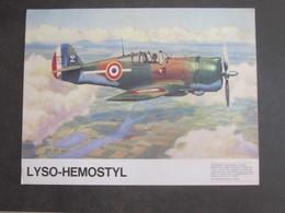 AVION CURTISS P36 HAWK PUB PHARMACEUTIQUE LYSO HEMOSTYL MILIEU ANNEES 60 SERIE 1 - Aviation
