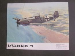 AVION MESSERSCHMIDT BF 109 PUB PHARMACEUTIQUE LYSO HEMOSTYL MILIEU ANNEES 60 SERIE 2 - Aviation