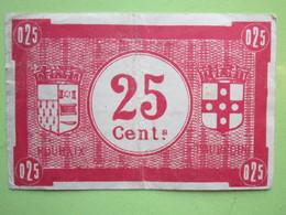 Bon De Monnaie 25 Centimes Villes De ROUBAIX Et De TOURCOING De BETHUNE (59)  1914-1918 - Bons & Nécessité