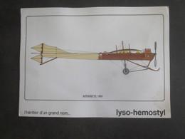 AVION ANTOINETTE 1909 PUB PHARMACEUTIQUE LYSO HEMOSTYL MILIEU ANNEES 60 SERIE 3 - Aviation