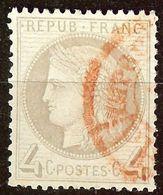 SUPERBE CERES N°52 4c Gris Oblitéré CàD PP ROUGE Cote 70 Euro PAS D'AMINCI - 1871-1875 Cérès