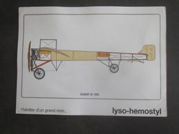 AVION BLERIOT XI 1909 PUB PHARMACEUTIQUE LYSO HEMOSTYL MILIEU ANNEES 60 SERIE 4 - Aviation