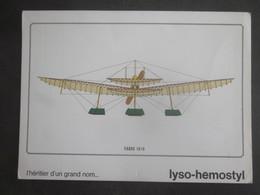 AVION FABRE 1910 PUB PHARMACEUTIQUE LYSO HEMOSTYL MILIEU ANNEES 60 SERIE 5 - Aviation