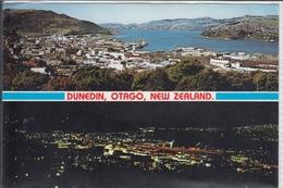 DUNEDIN OTAGO  NEW ZEALAND  DAY & NIGHT PANORAMA  NICE STAMP - New Zealand