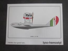 AVION SAVOIA S 16 TER  PUB PHARMACEUTIQUE LYSO HEMOSTYL MILIEU ANNEES 60 SERIE 13 - Aviation
