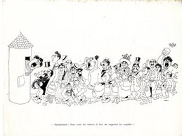 DUBOUT  - PARFAITEMENT POUR AVOIR DES HUITRES   ....  -  PLANCHE  EDITIONS ART ET TECHNIQUE 1945 - Boeken, Tijdschriften, Stripverhalen