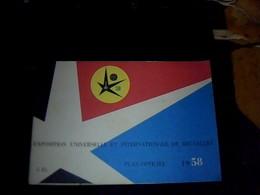 Livret Exposition  Universelle    Et Internationale De Bruxelle Annee 1958  Livret D Instruction Avec Plans Techniques - Europe